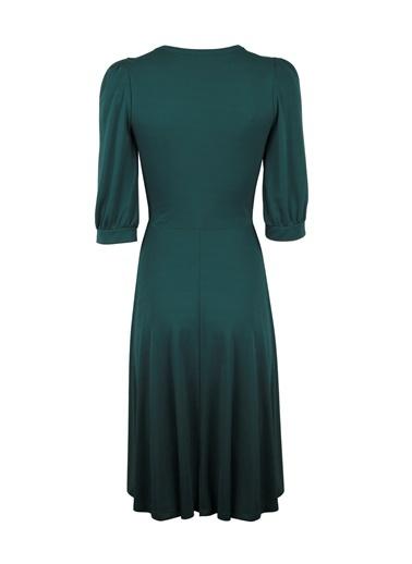 V Yaka Robadan Elbise-Vekem